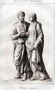Matrimonio In Roma Antica : Roma antica matrimonio romano steel engraving stampa antica