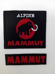 Lote 2 Parches bordados para coser estilo Mammut 5//4,7 cm