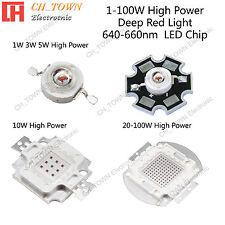 1w 3w 5w 10w 20w 30w 50w 100w Deep Red 640 660nm High Power Smd Led Chip Lights