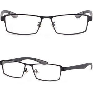 Lichte Vollrand Herren Damen Brillen Eckig Brillengestell Metall Fassung Braun rlttn