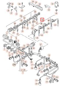 VW-Transporter-T5-Glow-Plug-Wiring-Harness-070971277B-2010-2l-Diesel-NEW-GENUINE