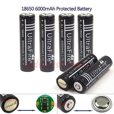 6X18650 6000mAh Protected Li-ion Rechargeable Battery Built-in Protection Board