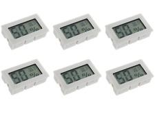 6x Digital Meter Temperature Humidity Thermometer Hygrometer Vivarium Reptile Wh
