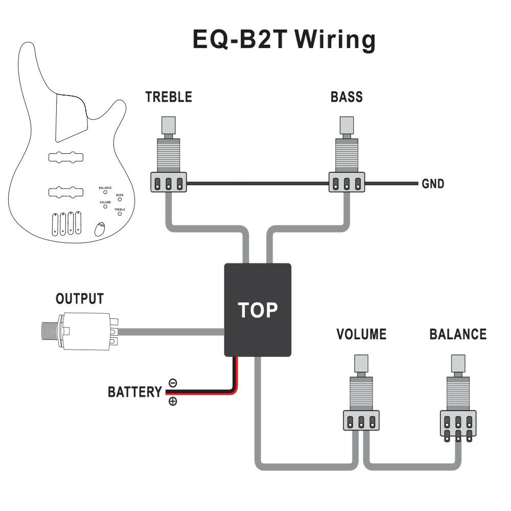 Belcat Pickup Wiring Diagram Auto Electrical Basic Electric Guitar Diagrams Genuine 2 Band Active Eq Preamp Circuit For Bass Rh Ebay Com Pick Up 3 Two Single Coil