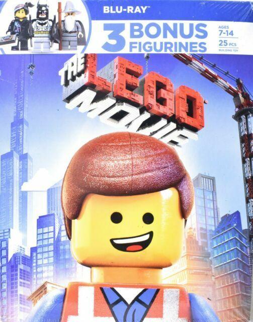 The Lego Movie 2014 Blu Ray Set With 3 Bonus Figurines For Sale Online Ebay