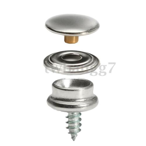 150pcs Stainless Fabric Snap Steel Marine Canvas Cover Button Socket 3//8/'/'