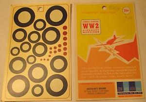 WW2-His-Air-Dec-1-48-Scale-British-National-Insignia-A-Type-20-60-034-Decals
