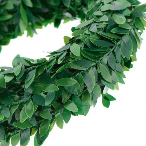 7.5mArtificial Garland Foliage Green Leaves Simulated Vine Wedding Xmas Decos1