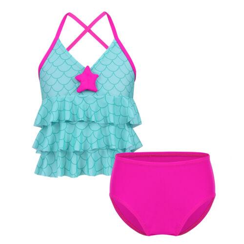 Toddler Girl Mermaid Bikini Swimwear Child Kid Bathing Swimsuit Swimming Costume