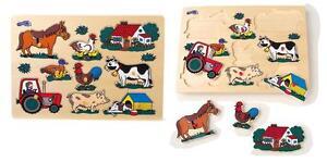 Puzzle-a-incastro-in-legno-034-Animali-della-fattoria-034-cm-30x22