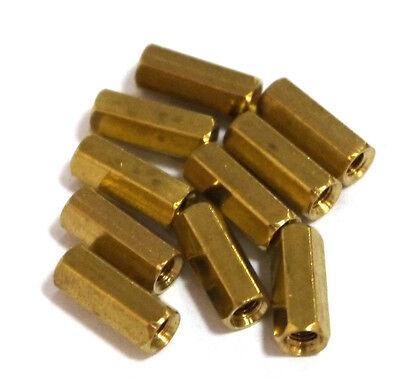 10 pcs M3 x 12mm Brass Hex Standoff Pillar Female - Female HOT SALE ET