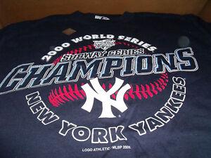 NY-Yankees-Shirt-World-Series-Champions-Logo-Athletic-NEW-Sz-Med-2000