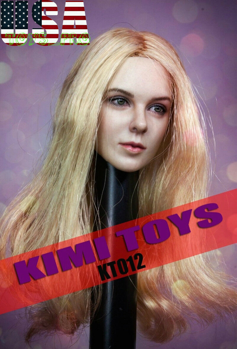 KIMI KT012 1 6 Blonde Blonde Blonde Hair Female Head Sculpt For 12  PHICEN Hot Toys Figure USA 430d31