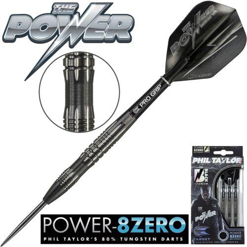 TARGET Steel Darts Dartset Dartsatz Dart Power 8 Zero Black Titanium 24gr 200216