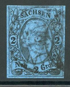 GERMANY-STATES-SAXONY-SCOTT-11a-MICHEL-10c-USED-AS-SHOWN