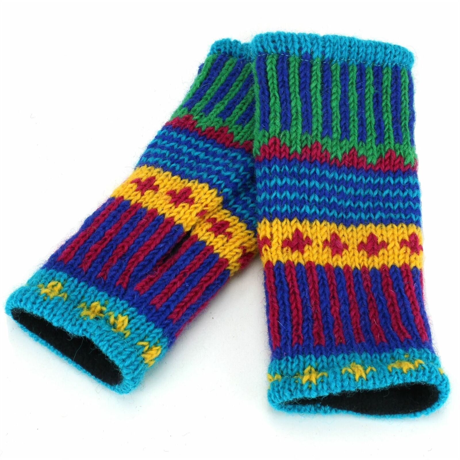 Wool Knit Arm Warmer Ministry of Colour Mittens Winter thumb shooting knitted