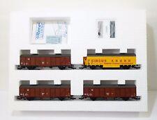 Roco/Preiser 4 Box Cars Set Circus Krone HO Scale Train Car Model #44009 MIB