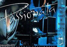 PUBLICITE ADVERTISING 116  1988  le soutien gorge Passionata (2p) *