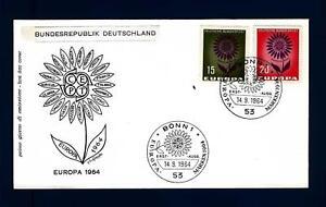 GERMANY-GERMANIA-REP-FED-1964-Europa-Fiore-con-22-petali-B