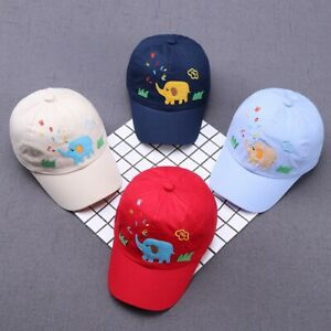 0cc2189fd Details about Boys Girls Baseball Cap Cartoon Animal Childrens Adjustable  Summer Beach Sun Hat