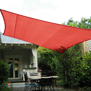 Image Is Loading Red Custom 5 12ft Rectangle Waterproof Sun Shade