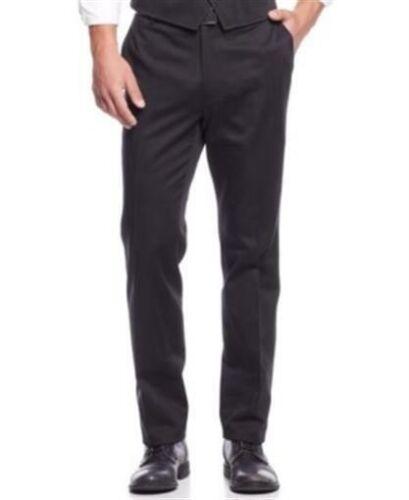 INC Black Mens Size 33 30 Truman Slim Fit Flat Front Dress Business Casual Pants