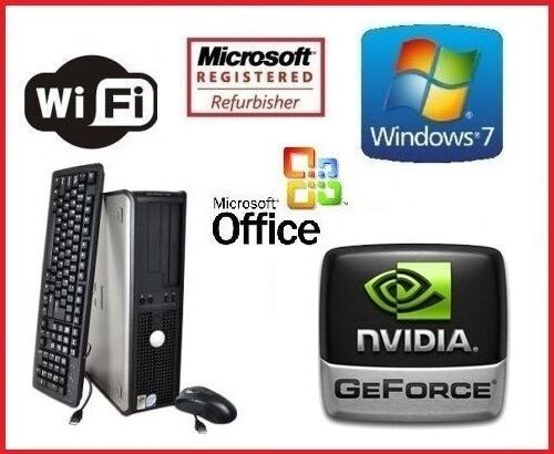 Custom 1GB HDMI NVIDIA Gaming Intel Quad Core 16GB 1TB WiFi Windows 7 Computer