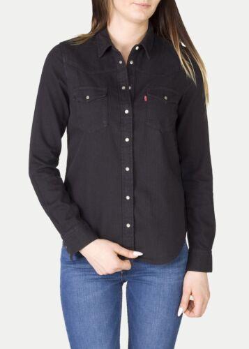 con Camicia nero To Levis classica tag Xs da L donna Inchiostro nuovi western q6BwrqOnT