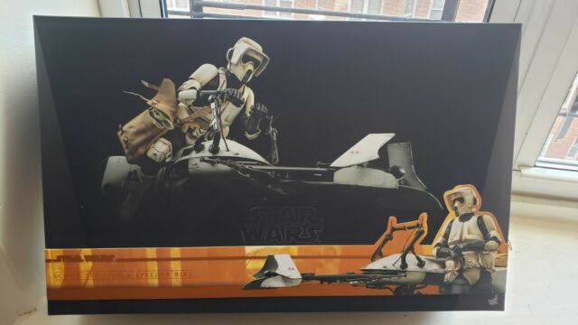 Hot Toys Scout Trooper with Speeder Bike  --NO GROGU-- TMS017 The Mandalorian