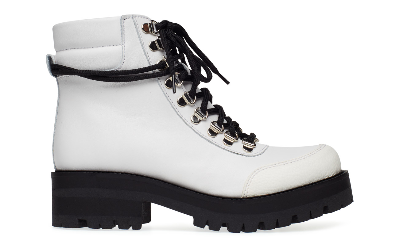 Women's Gestuz Rando Ankle Boots SO19 Ladies White Leather RRP