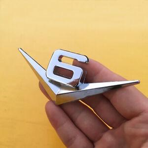 V6-Emblem-Chrom-Schriftzug-Auto-Aufkleber-Logo-3D-Metall-V6-emblem-Neu