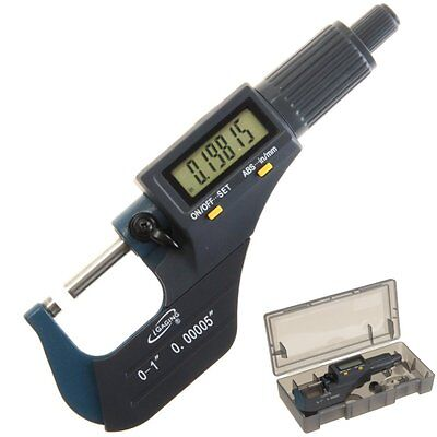 """iGaging Digital Electronic Micrometer Outside 0-1""""/0.00005"""" X-Large LCD Carbide"""