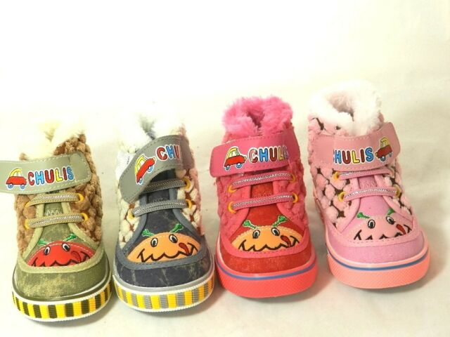 Toddler Girls Boys  Warm Winter Chulis First Booties Boot Shoe sz 0-5