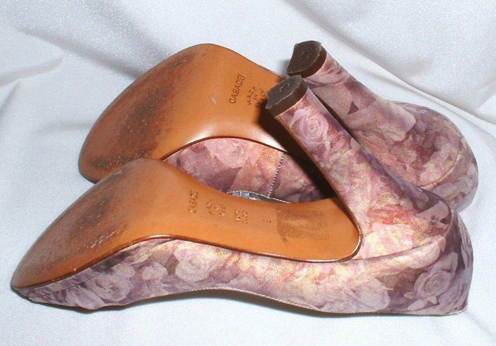 Hochwertige CASADEI Highheel Pumps  Leder Leder Leder + Satin Gr. 38 39 (US 8) edcfde