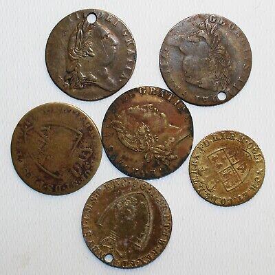 foto de Lot of 6 1768-90 George III Great Britain Gaming Tokens Spade One ...