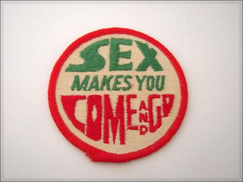 Vintage 80/'s Embroidered Patch Funny Humor Sex Trucker Biker Jacket Retro Weird