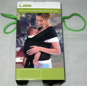 c433e88ff46 INNOOBABY BABY TODDLER WRAP CARRIER SLING BLACK COTTON BREASTFEEDING ...