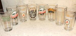 Mixed-Lot-of-8-Bar-Beer-Glasses-Brewery-Pilsner-Logo-Liquor