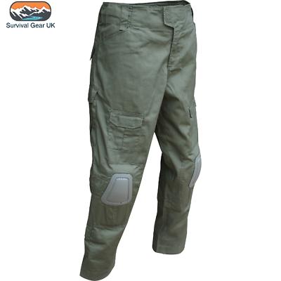 Viper Elite Trousers Ripstop Polycotton Assault Combat Trousers Knee Pads Black