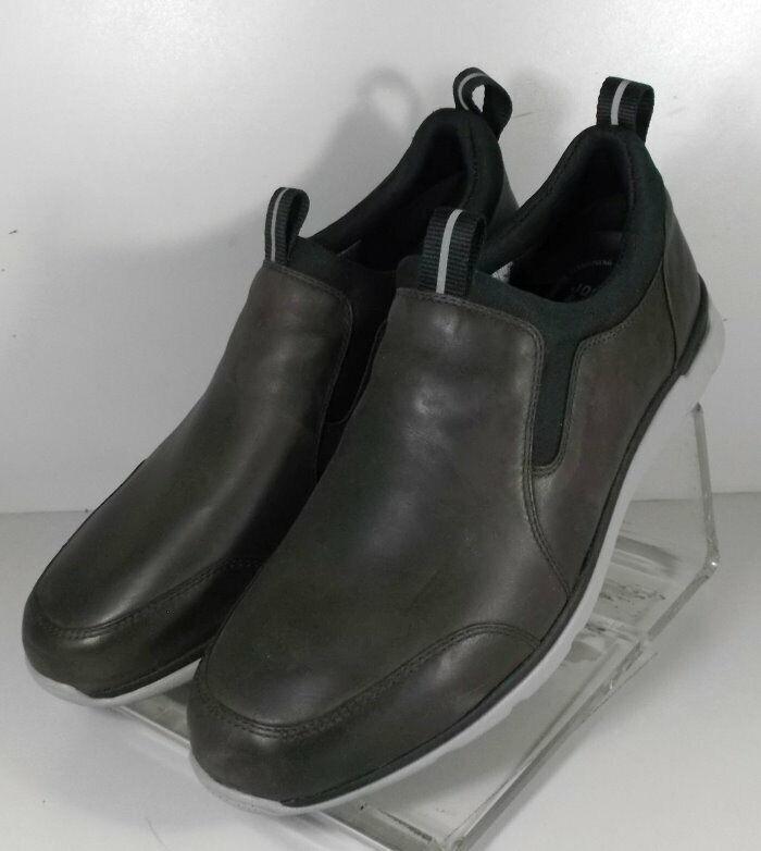 254073 SP50 Men's shoes Size 9 M Dark Brown Leather Slip On Johnston & Murphy
