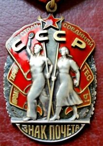 VINTAGE-MEDAL-RUSSIAN-SOVIET-Order-of-the-Badge-of-Honor-Original-GENUINE