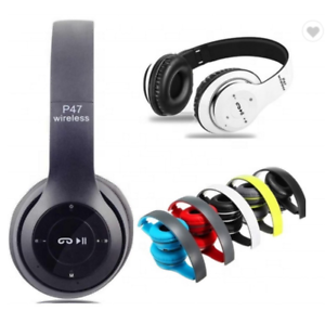 Wireless Bluetooth Headphones with Noise Cancelling Over-Ear Earphones Phone UK