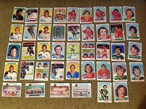 1970-039-s-Topps-Hockey-Cards-mixed-lot-of-42-used-condition