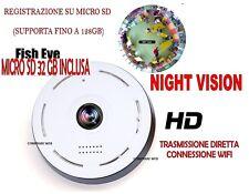 TELECAMERA + 32GB FULLHD ROTANTE WIFI IP CAMERA HD 720P WIRELESS LED IR LAN 360°