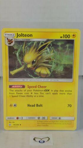 Cosmic Eclipse  Uncommon  Mint//NM  Pokemon Jolteon  70//236 S/&M