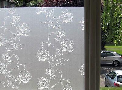 givré Decorative Statique Verre Fenêtre Vinyle Intimité Film rose blanche * ABA-DECOR