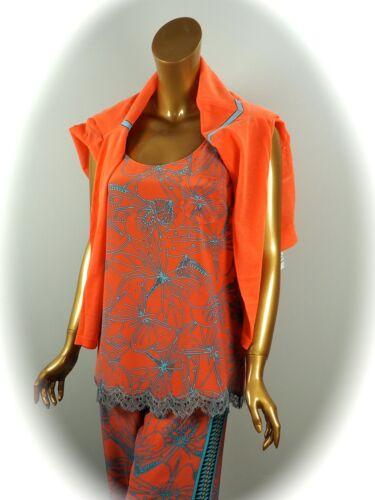 MARCCAIN shirt//top en soie avec dentelle taille n3//38 NEUF