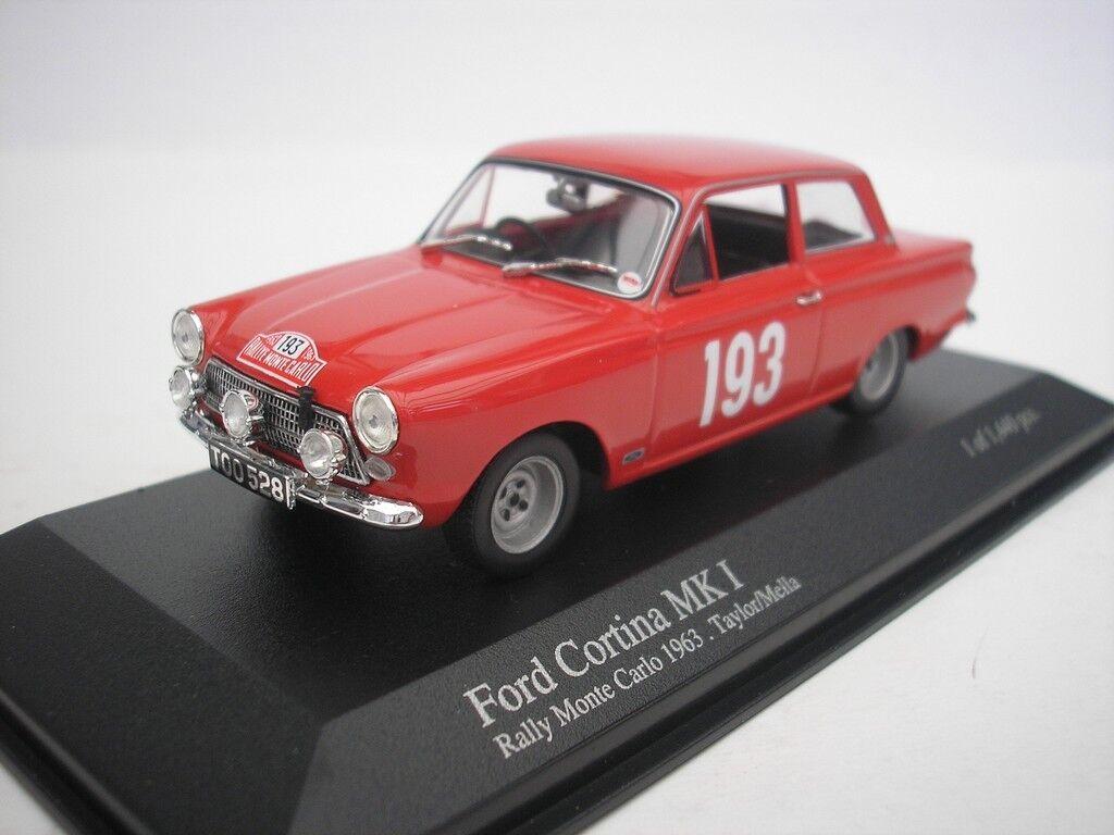 Ford Cortina Mk I  193 Rally Monte Carlo 1963 Taylor 1 43 MINICHAMPS 400638293