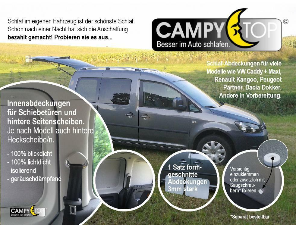 VW Caddy Short 2004 - (K2) window covers 4x Opaque Sleep sonderprs