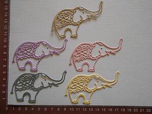 Die-cuts-Elephants-x-5-Birthday-Baby-Animals-Embellishments